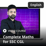 Complete Maths for SSC CGL in English Medium (Video Course)