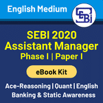 SEBI Assistant Manager Phase I (Paper 1) 2020 English Medium eBooks