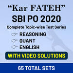 Kar Fateh Combo (Reasoning + Quant + English) SBI PO 2020 Topic Wise (With Video Solutions) Online Test Series