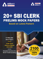 SBI Clerk Prelims 2021 E - Mock Papers (English Medium)