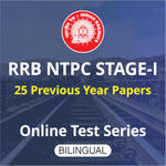 RRB NTPC Stage-I Previous Year Papers Online Test Series