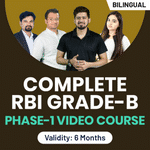 Complete RBI Grade B Phase-I Video Course
