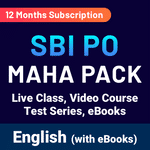 SBI PO KA MAHA PACK (Online Live Classes, Test Series, Video Courses, Ebooks in  English Medium)