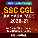 SSC CGL MAHA Pack (Live Classes | Video Course | Test Series | Ebooks) (Validity: 12 + 12 Months)