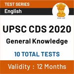 UPSC CDS General Knowledge 2020 Online Test Series