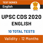 UPSC CDS English 2020 Online Test Series