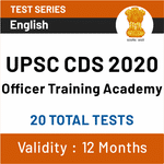 UPSC CDS Officer Training Academy 2020 (OTA) Online Test Series