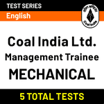 Coal India Limited Management Trainee (Mechanical) Online Test Series