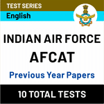 Indian Air Force AFCAT Previous Year Papers Online Test Series