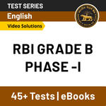 RBI Grade B Phase I with Video Solutions 2021 Online Test Series