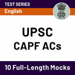 UPSC CAPF ACs 2020 Online Test Series