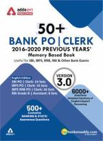 50+ Bank PO and Clerk 2016-20 Previous Years Memory Based Papers Book (English Printed Edition)