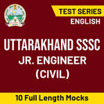 Uttarakhand SSSC Jr. Engineer (Civil) 2020 Online Test Series