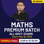 MATHS PREMIUM BATCH | ALL GOVERNMENT EXAMS | Bilingual | Live Classes