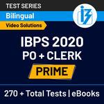 IBPS PO and Clerk Prime 2020 Online Test Series