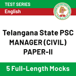 Telangana State PSC Manager (Civil) Paper-II 2020 Online Test Series
