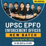 UPSC EPFO New Complete Batch Enforcement Officer  Bilingual   Live Classes