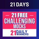 21 Days | 21 Free Challenging Mocks | 21 Daily Winners Online Test Series