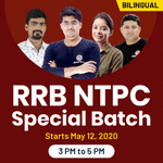 RRB NTPC Special Batch | Bilingual | Live Classes