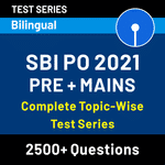 Topic Wise 2021 Test Series | SBI PO | Pre + Mains (Test Series)