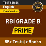 RBI Grade B Prime with Video Solutions 2020 Online Test Series