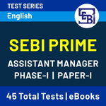 SEBI Assistant Manager Phase I (Paper-I) Prime 2020 Online Test Series