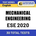ESE Mechanical Engineering 2020 Online Test Series