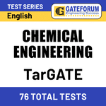 TarGATE Chemical Engineering 2021 Online Test Series