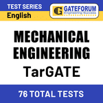 TarGATE Mechanical Engineering 2021 Online Test Series