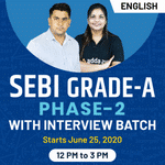 SEBI Grade A Phase-II | Bilingual | Live Classes