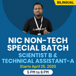 SCIENTIST B & TECHNICAL ASSISTANT-A | NIC Non -Tech Special batch | Bilingual | Live Classes