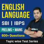 English Language Topic-wise Test Series for IBPS | SBI (PO + Clerk) Online Test Series
