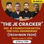 "The JE Cracker "" SSC JE FOUNDATION BATCH FOR CIVIL ENGINEERING (Tech+Non Tech) | Bilingual | Live Class"