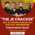 "The JE Cracker "" SSC JE FOUNDATION BATCH FOR CIVIL ENGINEERING (Tech+Non Tech) 