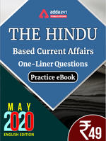 May 2020 Edition of The Hindu Newspaper Based One-Liners eBook English Medium