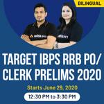 TARGET IBPS RRB PO/CLERK PRELIMS 2020 | Bilingual | Live Classes