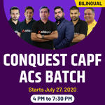 Conquest  CAPF ACs Complete Batch | Bilingual | Live Classes