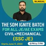""" The SOM Ignite Batch "" for All JE / AE Exams CIVIL + MECHANICAL | Bilingual | Live Class"