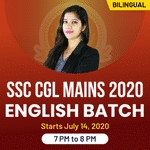 SSC CGL Mains 2020 English 2020 Batch | Bilingual | Live Class