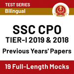 SSC CPO Previous Year Papers Online Test Series for CPO Tier 1 Exam