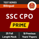 SSC CPO Prime SSC CPO Online Test Series