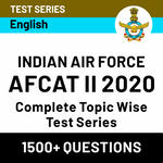 IAF AFCAT 2 Test Series 2020: Complete Topic-wise AFCAT Test Series
