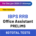 IBPS RRB Test Series 2020-21 RRB Scale-I Prelims Online Test Series
