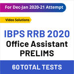 IBPS RRB Online Test Series 2020 RRB Office Assistant Prelims Test Series