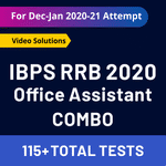 IBPS RRB Online Test Series 2020 Combo: IBPS RRB Office Assistant Mock Test