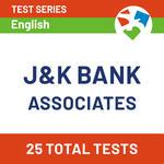 J&K Bank Online Test Series 2020: Bank Associates Online Mock Test Series