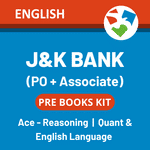 J&K Bank Prelims Books Kit for PO + Associates: English Printed Edition