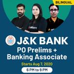 J&K Bank PO prelims + Banking Associate | Bilingual | Live Classes | Bilingual | Live Class