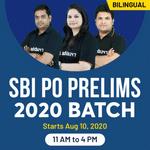 SBI PO Prelims 2020 Batch | Bilingual | Live Class