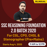 SSC Reasoning CGL, CHSL, CPO and Stenographer exams 2020 for (Pre+Mains) | Complete Bilingual Foundation 2.0 batch